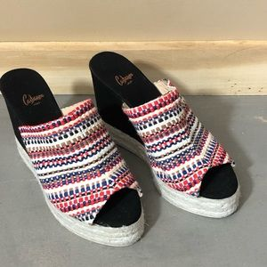 Castaner Wedge Sandals Espadrilles 8.5